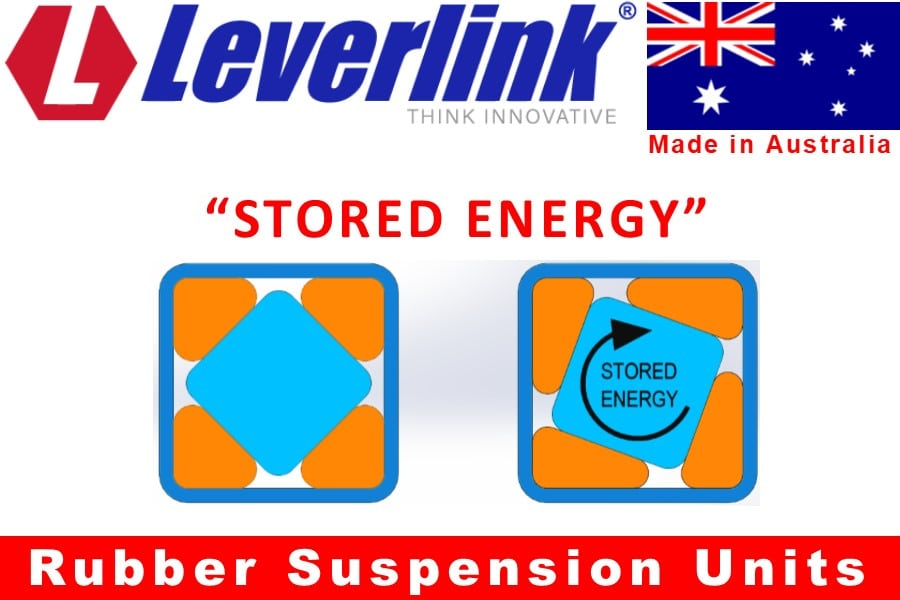 LEVERLINK rubber torsion spring