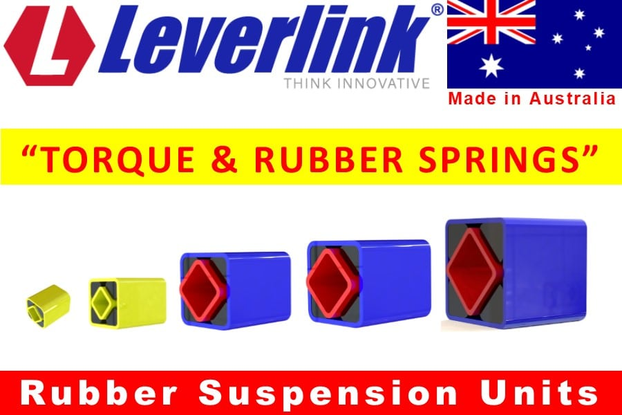 LEVERLINK Rubber Torsion Springs used in our Motorbases