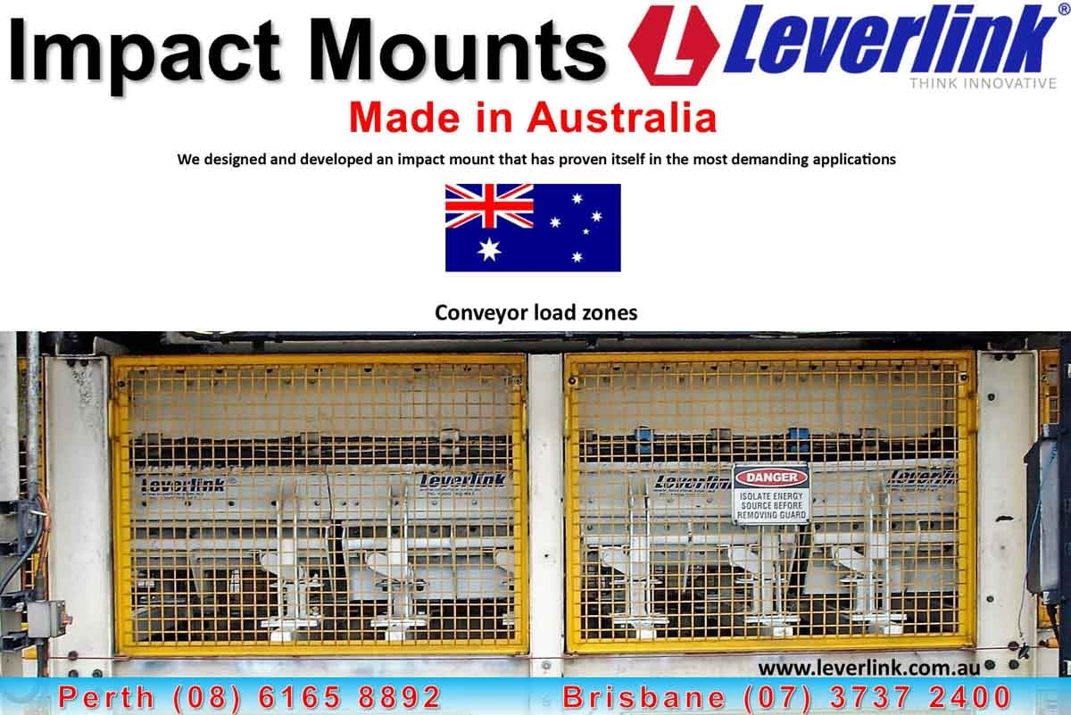 Conveyor protection. Impact zone damage. Conveyor impact mounts