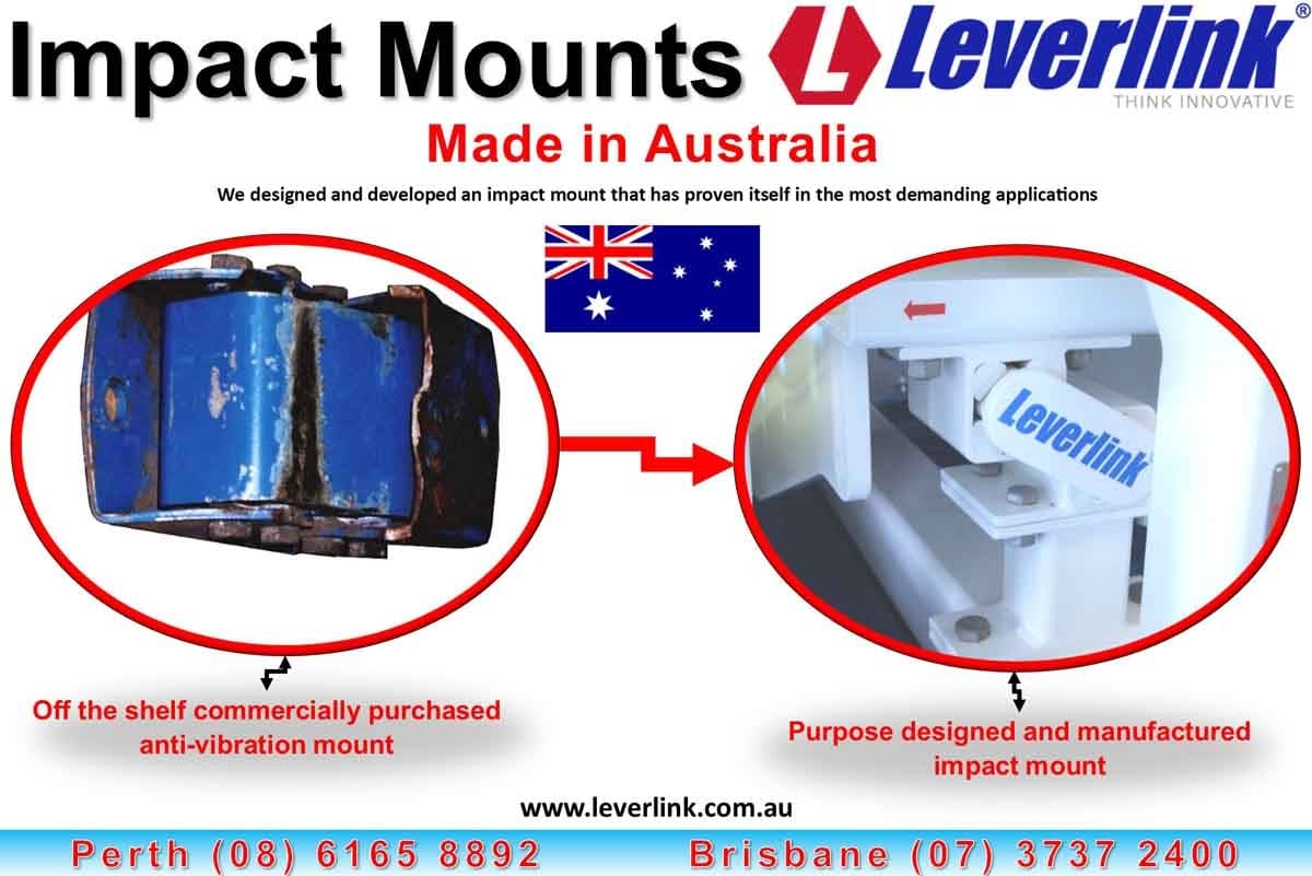 Impact mounts. Conveyor impact mount