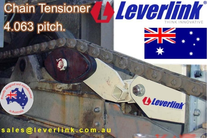 LEVERLINK Chain tensioners from 1 inch to 6 inches. Available as Simplex, Duplex, triplex sprockets