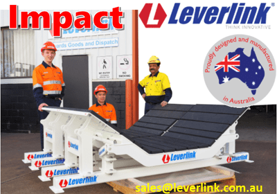 LEVERLINK Dynamic Impact Beds-Slider Beds-Load Zone-Conveyors-Quarry-Mining-Impact bars