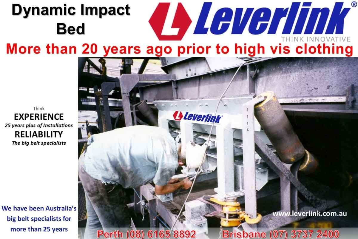 Leverlink engineer inspecting mid 90s dynamic impact bed