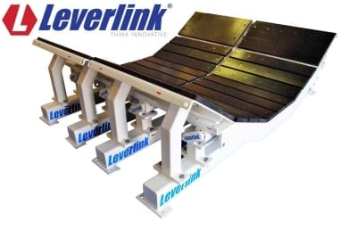 A Leverlink Dynamic Impact Bed will reduce damage on wide conveyor belts