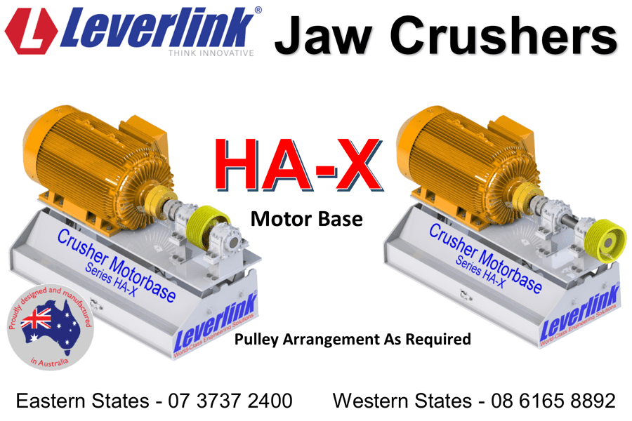 LEVERLINK-Jaw-Crusher-Motor-Base-Model-HAX-Mining-Quarry-Western Australia-Port-Headland-Iron-Ore-Stored-Energy-Self-Tensioning-Auto-Tensioning-Belt-Tensioner-2