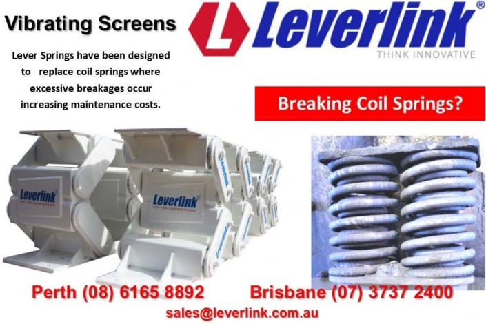 LEVERLINK Lever springs for vibrating screens