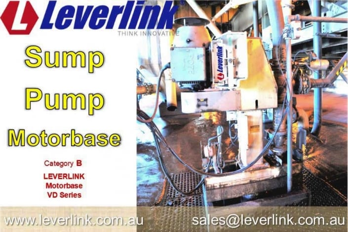 LEVERLINK VD Motorbase fitted to Warman Sump Pump