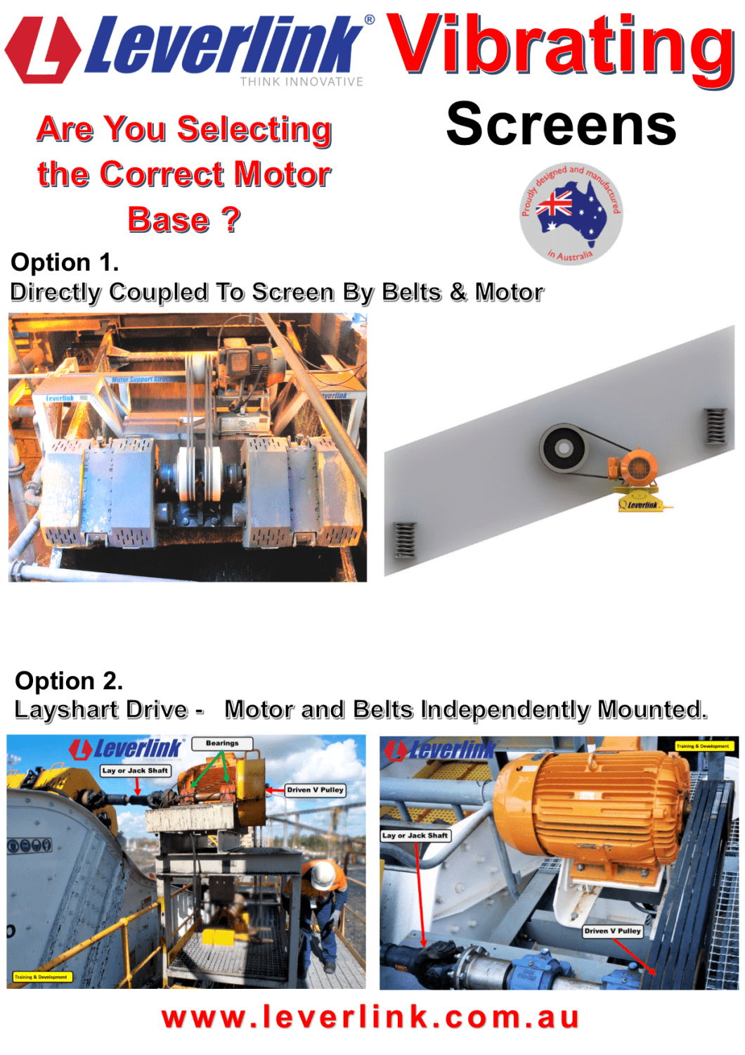 LEVERLINK Vibrating Screen Motorbase- Motor Base-Motor Mount-Self Tensioning