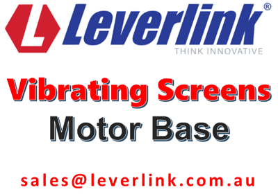 LEVERLINK Vibrating Screens-Motor Base-Self Tensioning-Mount Mount-Quarry