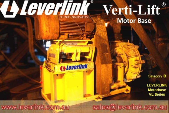 LEVERLINK motor base for slurry pump