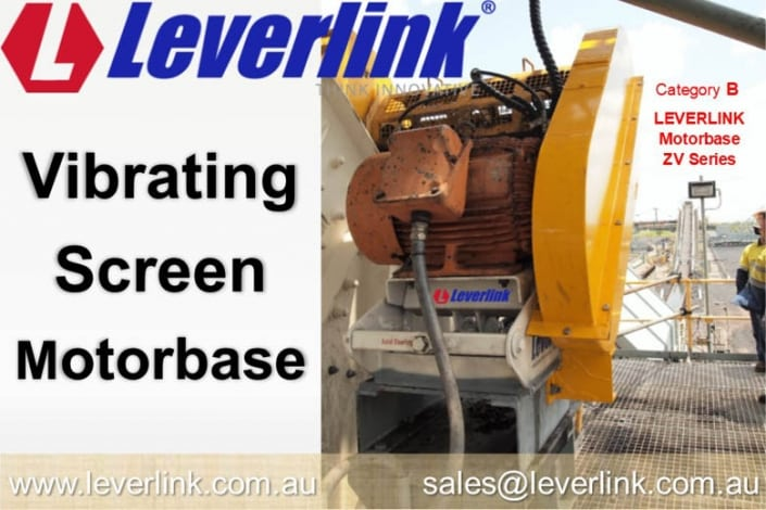 LEVERLINK-motorbase-on-vibrating-screen-Self-tensioning-or-self-adjusting-ZV-motor-base-1
