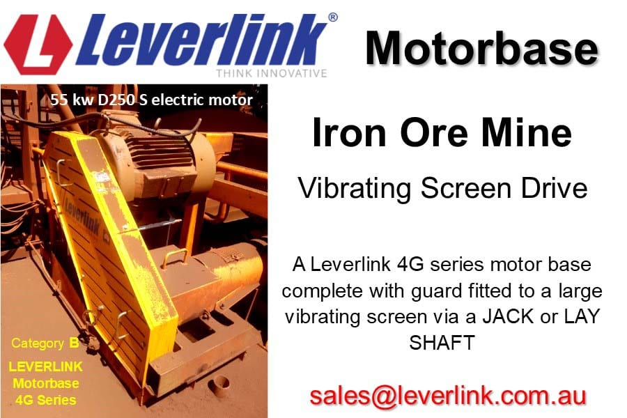 Vibrating screen drive