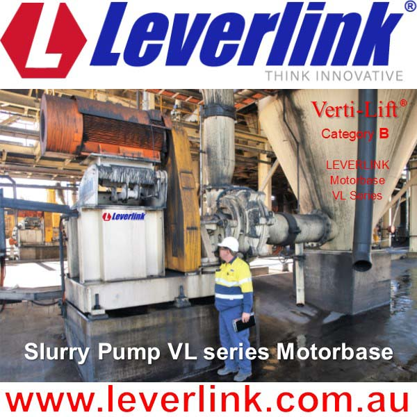 LEVERLINK motorbase series VL for slurry pump