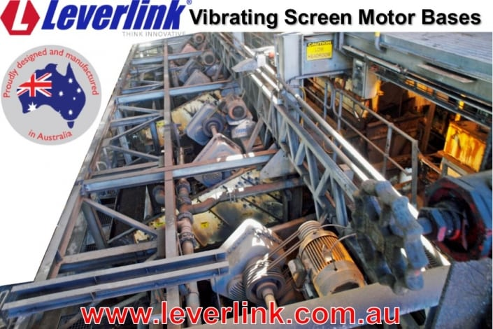 LEVERLINK motorbases for vibrating screens