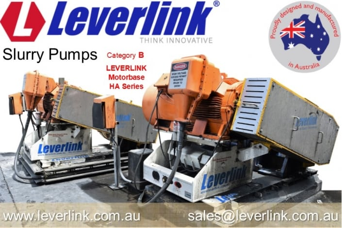 LEVERLINK slurry pump HA series motorbase
