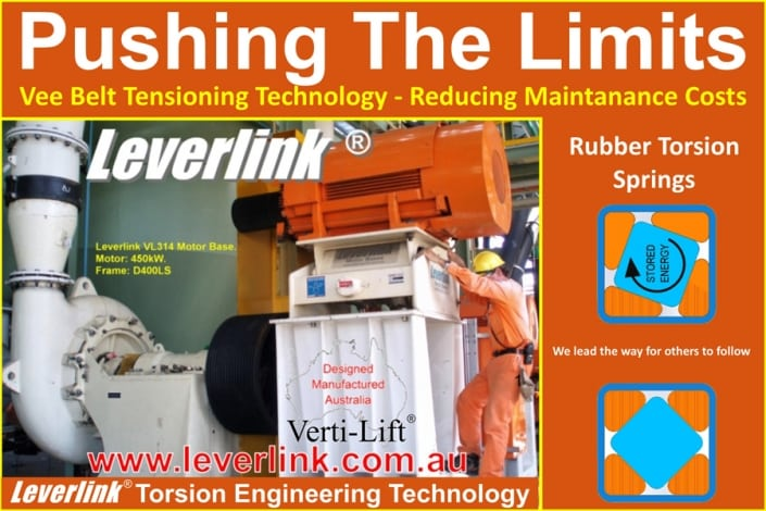 LEVERLINK VL Series Motorbase being used on Slurry Pump