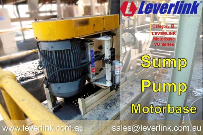 LEVERLINK Sump Pump VU Motor Base on Warman pump