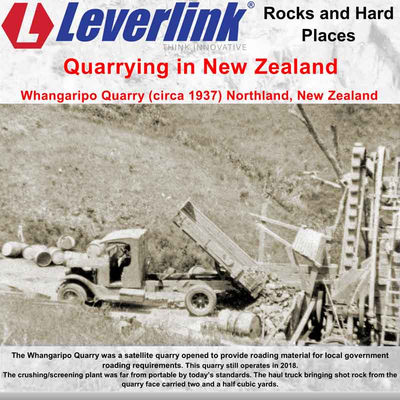 Leverlink quarry history, Leverlink quarry experience. Quarrying history