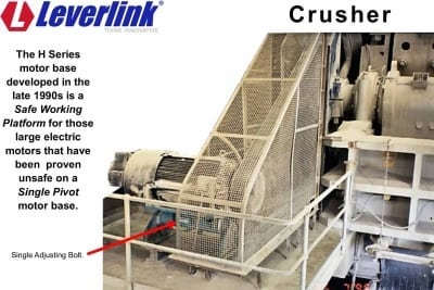 Leverlink-crusher-motor-base-h-series
