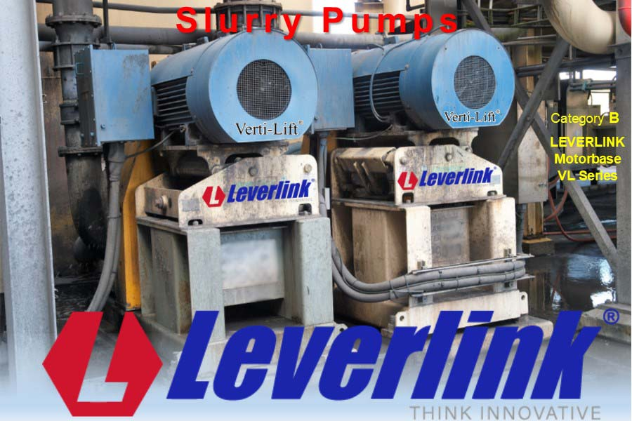 LEVERLINK Slurry Pump Motor base for drive belts