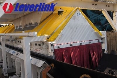 A Leverlink conveyor dust enclosure controls airbourne dust.
